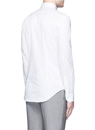Back View - Click To Enlarge - Armani Collezioni - Contrast shoulder cotton shirt