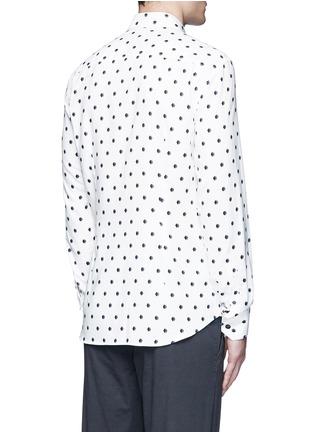 Back View - Click To Enlarge - Armani Collezioni - Diamond print cotton blend shirt