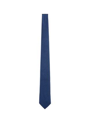 Main View - Click To Enlarge - Armani Collezioni - Square dot jacquard tie