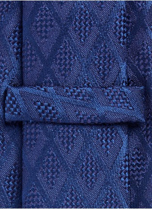 Detail View - Click To Enlarge - Armani Collezioni - Textured diamond jacquard tie