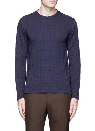 Main View - Click To Enlarge - Armani Collezioni - Diamond motif sweater
