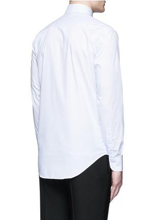 Back View - Click To Enlarge - Armani Collezioni - 'Modern' stripe cotton shirt