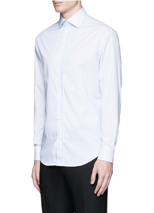 Front View - Click To Enlarge - Armani Collezioni - 'Modern' stripe cotton shirt