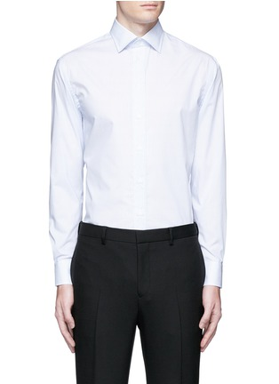 Main View - Click To Enlarge - Armani Collezioni - 'Modern' stripe cotton shirt