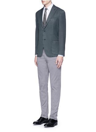 Figure View - Click To Enlarge - Armani Collezioni - Check grid cotton shirt
