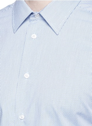 Detail View - Click To Enlarge - Armani Collezioni - Slim fit chain link cotton shirt