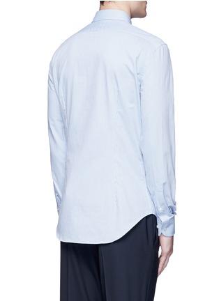 Back View - Click To Enlarge - Armani Collezioni - Slim fit chain link cotton shirt