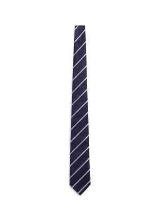 Main View - Click To Enlarge - Armani Collezioni - Regimental stripe diamond jacquard tie