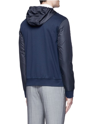 Back View - Click To Enlarge - Armani Collezioni - Tech fabric sleeve and hood blouson jacket