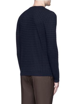 Back View - Click To Enlarge - Armani Collezioni - Geometric jacquard sweater