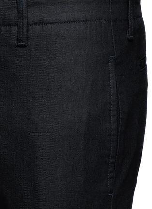 Detail View - Click To Enlarge - Armani Collezioni - Straight leg denim pants
