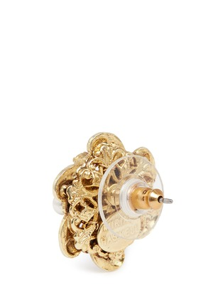 Detail View - Click To Enlarge - Miriam Haskell - Crystal glass pearl floral swirl stud earrings