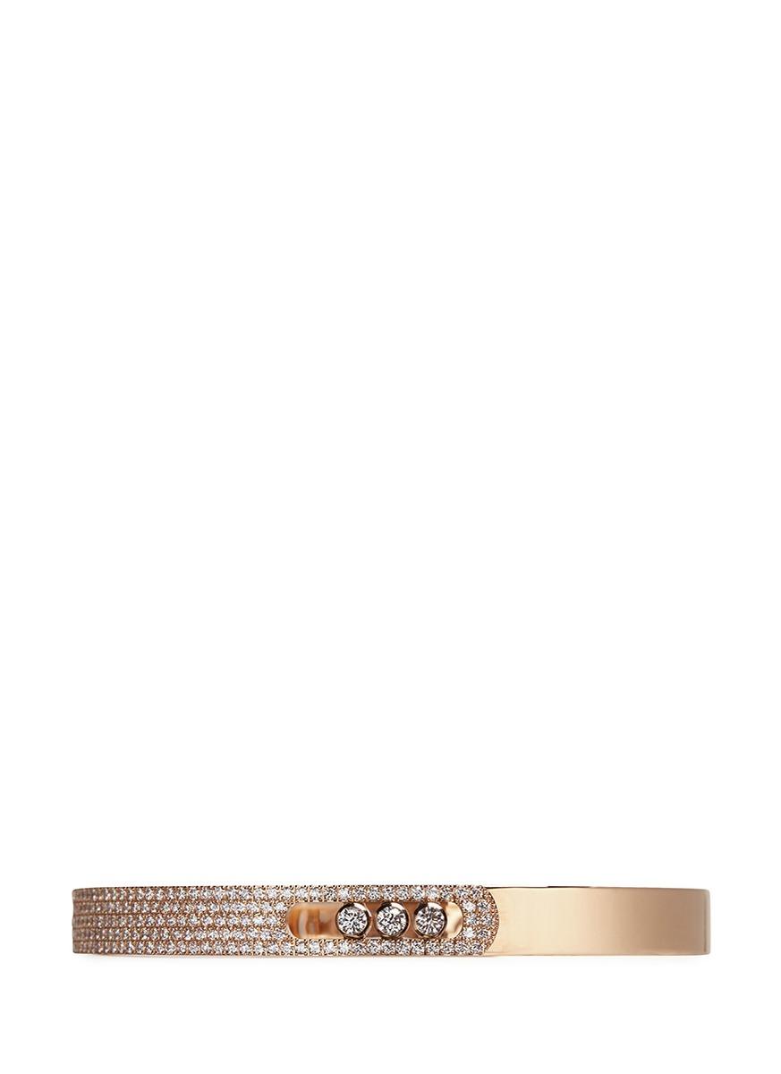 MESSIKA Move Noa 18Ct Pink-Gold And Pavé Diamond Bangle
