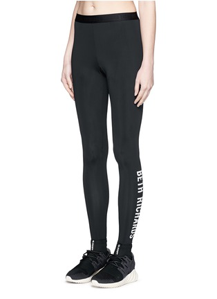 Front View - Click To Enlarge - Beth Richards - 'Masi' elastic waist logo leggings