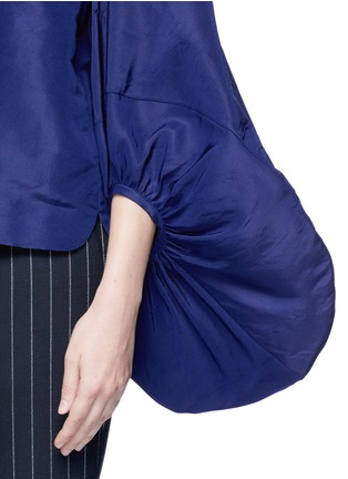 Detail View - Click To Enlarge - 72722 - Balloon sleeve silk faille off-shoulder top