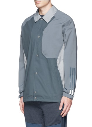 Front View - Click To Enlarge - Adidas By White Mountaineering - Patchwork bench jacket