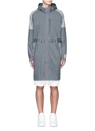 Main View - Click To Enlarge - Adidas By White Mountaineering - Long patchwork coat