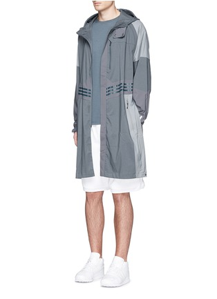 Figure View - Click To Enlarge - Adidas By White Mountaineering - Long patchwork coat