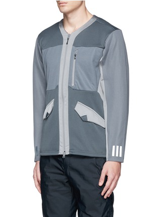Front View - Click To Enlarge - Adidas By White Mountaineering - Patchwork jersey jacket