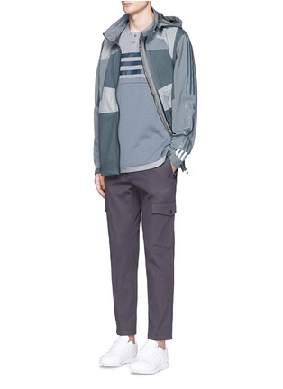 Figure View - Click To Enlarge - Adidas By White Mountaineering - Patchwork Henley shirt