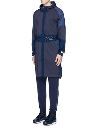 Front View - Click To Enlarge - ADIDAS BY WHITE MOUNTAINEERING - Long patchwork coat