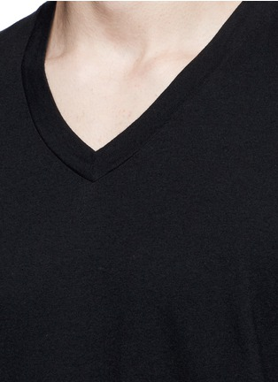 Detail View - Click To Enlarge - James Perse - V-neck cotton slub jersey T-shirt