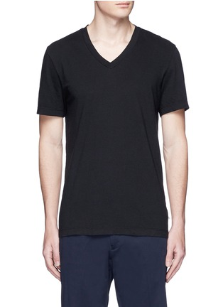 Main View - Click To Enlarge - James Perse - V-neck cotton slub jersey T-shirt