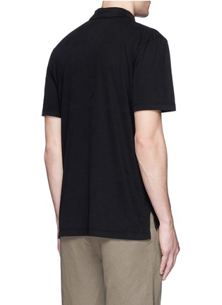 Back View - Click To Enlarge - James Perse - Sueded Supima® cotton jersey polo shirt