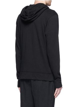 Back View - Click To Enlarge - James Perse - Vintage fleece zip hoodie