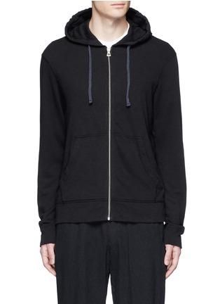 Main View - Click To Enlarge - James Perse - Vintage fleece zip hoodie
