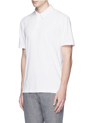 Front View - Click To Enlarge - James Perse - Sueded Supima® cotton jersey polo shirt