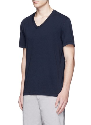 Front View - Click To Enlarge - James Perse - V-neck cotton slub jersey T-shirt