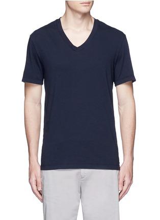 Main View - Click To Enlarge - James Perse - V-neck cotton slub jersey T-shirt