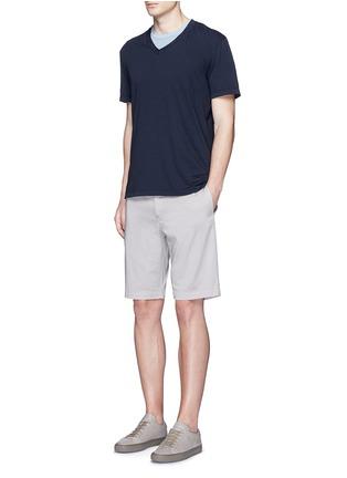 Figure View - Click To Enlarge - James Perse - V-neck cotton slub jersey T-shirt