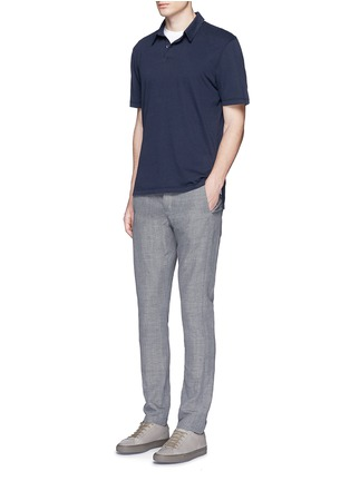 Figure View - Click To Enlarge - James Perse - Sueded Supima® cotton jersey polo shirt