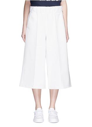Main View - Click To Enlarge - ADIDAS X HYKE - 'HY' elastic waist wide leg pants