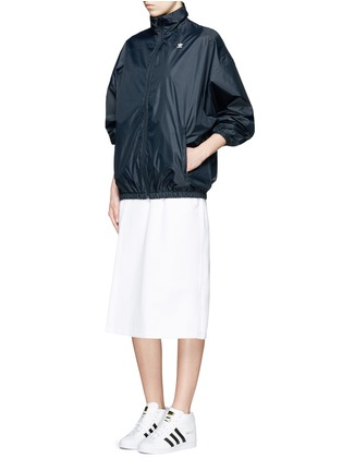 Figure View - Click To Enlarge - ADIDAS X HYKE - 'HY Windbreaker' batwing sleeve jacket