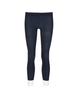 Main View - Click To Enlarge - ADIDAS X HYKE - Contrast cuff rib knit tights