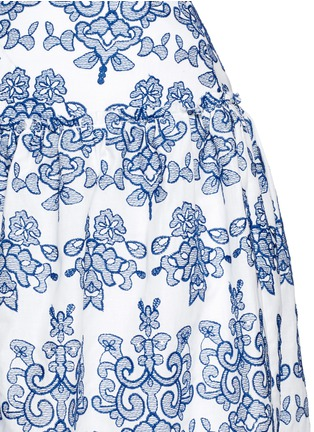 Detail View - Click To Enlarge - Nicholas - Floral embroidery ruffle cotton skirt
