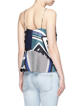 Back View - Click To Enlarge - Nicholas - Scarf colourblock print camisole
