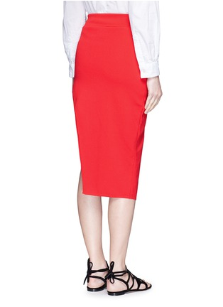 Back View - Click To Enlarge - Nicholas - Asymmetric double-layer knit pencil skirt