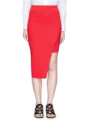 Main View - Click To Enlarge - Nicholas - Asymmetric double-layer knit pencil skirt