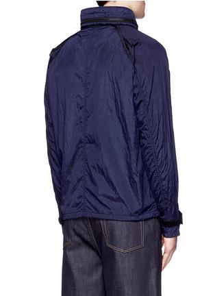 Back View - Click To Enlarge - Stone Island - 'Nylon Metal' crinkled jacket