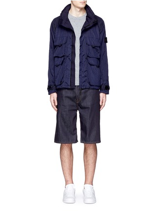 Figure View - Click To Enlarge - Stone Island - 'Nylon Metal' crinkled jacket