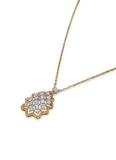 Buccellati Diamond 18k gold pendant necklace
