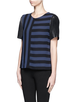 Front View - Click To Enlarge - SANDRO - Eveil multi-stripe top