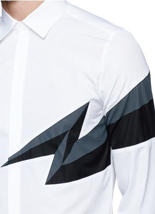 Detail View - Click To Enlarge - NEIL BARRETT - Thunderbolt print shirt