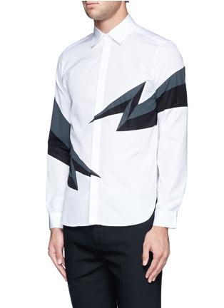 Front View - Click To Enlarge - NEIL BARRETT - Thunderbolt print shirt