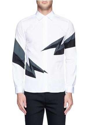 Main View - Click To Enlarge - NEIL BARRETT - Thunderbolt print shirt