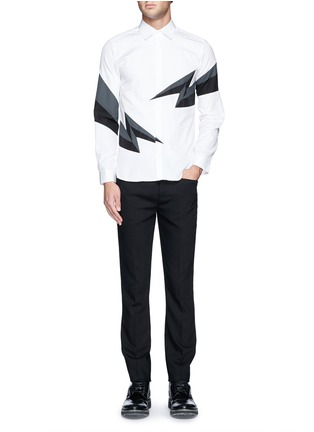 Figure View - Click To Enlarge - NEIL BARRETT - Thunderbolt print shirt